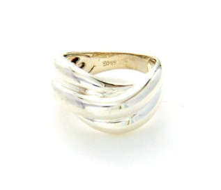 925 Silver Waves Ring