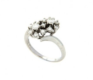18k White Gold 0.53ct Diamond Floral Dress Ring