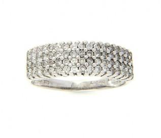 9k White Gold 0.87ct Diamond Dress Ring