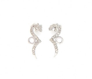 18k White Gold 0.43ct Diamond Circles And Curves Earrings