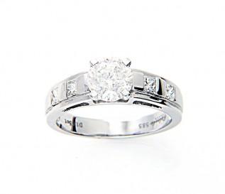 14k White Gold 1.65ct Diamond Engagement Ring