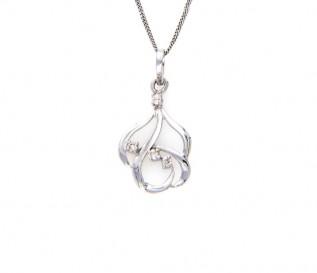 18k White Gold 0.15ct Diamond Pendant