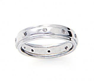 9ct White Gold 0.12ct Diamond Eternity Ring