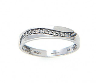 9ct White Gold 0.10ct Diamond Wedding Ring