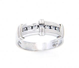 9k White Gold 0.20ct Diamond Wedding Ring