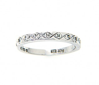 9k White Gold 0.10ct Diamond Wedding Ring