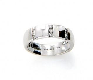 18k White Gold 0.19ct Diamond Wedding Ring