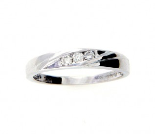 18k White Gold 0.13ct Diamond Wedding Ring