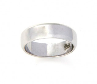 9k White Gold 6mm Wedding Band