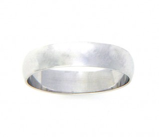 18k White Gold 5mm Wedding Band