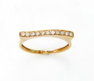 9k Yellow Gold 0.17ct Diamond Dress Ring