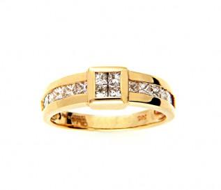 14k Yellow Gold 0.72ct Princess Cut Diamond Engagement Ring
