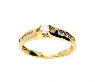 18k Yellow Gold 0.38ct Diamond Engagement Ring