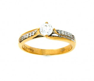 18k Yellow Gold 0.41ct Diamond Engagement Ring