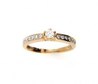 18k Yellow Gold 0.24ct Diamond Engagement Ring