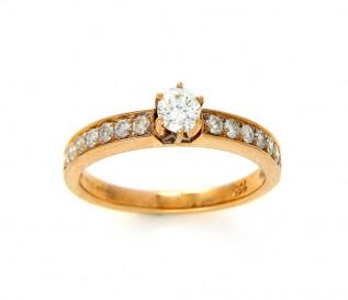 18k Yellow Gold 0.53ct Diamond Engagement Ring