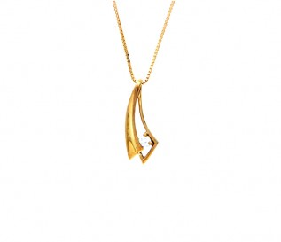 9k Yellow Gold 0.09ct Diamond Pendant