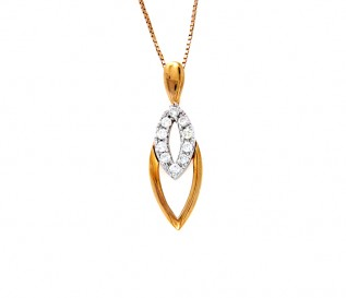 9k Yellow Gold 0.18ct Diamond Pendant