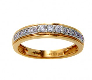 18k Yellow Gold 0.37ct Diamond Wedding Ring