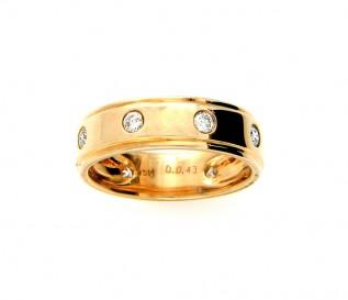 18k Yellow Gold 0.43ct Diamond 5mm Wedding Ring