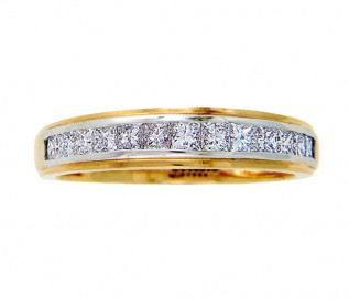 18k Yellow Gold 0.63ct Princess Diamond Wedding Ring
