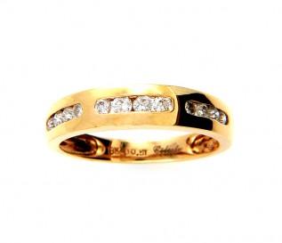 18k Yellow Gold 0.51ct Diamond Wedding Ring