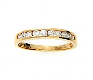 18ct Yellow Gold 0.49ct Diamond Wedding Ring