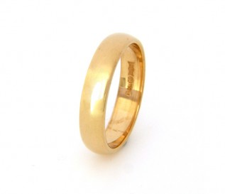 18k Yellow Gold 4mm Wedding Band
