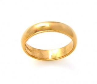 18k Yellow Gold 4mm Wedding Band