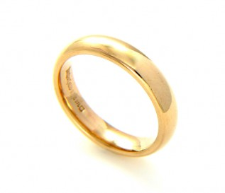 9k Yellow Gold Ladies 4mm Wedding Band