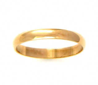 9k Yellow Gold 2mm Ladies Wedding Band