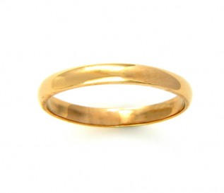 9k Yellow Gold 2mm Wedding Band
