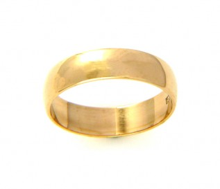 9k Yellow Gold 5mm Wedding Band